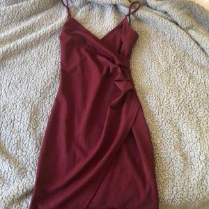 Maroon Tight Body Dress